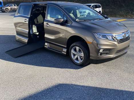 New Wheelchair Van For Sale: 2020 Honda Odyssey EX-L Wheelchair Accessible Van For Sale with a VMI Honda Northstar on it. VIN: 5FNRL6H79LB073814