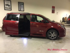 New Wheelchair Van For Sale: 2016 Toyota Sienna SE Wheelchair Accessible Van For Sale with a BraunAbility® Toyota Rampvan Xi on it. VIN: 5TDXK3DC3GS763099