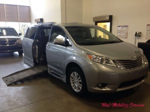 New Wheelchair Van For Sale: 2016 Toyota Sienna XLE Wheelchair Accessible Van For Sale with a  on it. VIN: 5TDYK3DC9GS762446