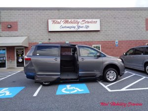 New Wheelchair Van For Sale: 2017 Toyota Sienna XLE Wheelchair Accessible Van For Sale with a VMI Toyota NorthstarAccess360 on it. VIN: 5TDYZ3DC7HS868343