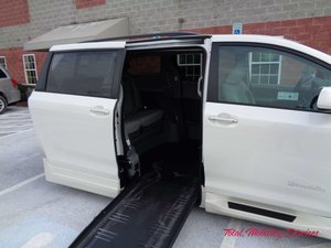 New Wheelchair Van For Sale: 2018 Toyota Sienna XLE Wheelchair Accessible Van For Sale with a BraunAbility Toyota Rampvan XL on it. VIN: 5TDYZ3DC7JS907048