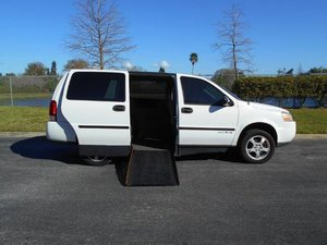 Used Wheelchair Van For Sale: 2008 Chevrolet Uplander LE Wheelchair Accessible Van For Sale with a Handicap Accessible Van on it. VIN: 1GBDV13WX8D200563