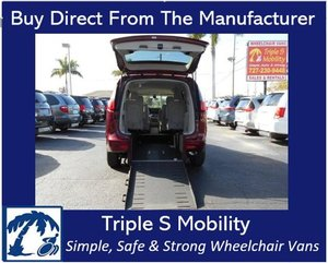 Used Wheelchair Van For Sale: 2017 Chrysler Pacifica Touring Wheelchair Accessible Van For Sale with a Triple S Manual Rear Entry on it. VIN: 2C4RC1DG0HR520518