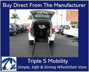 Used Wheelchair Van For Sale: 2016 Dodge Grand Caravan SE Wheelchair Accessible Van For Sale with a Triple S Manual Rear Entry on it. VIN: 2C4RDGBG1GR315534