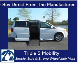 Used Wheelchair Van For Sale: 2014 Dodge Grand Caravan EL Wheelchair Accessible Van For Sale with a Handicap Accessible Van on it. VIN: 2C4RDGCG2ER283852