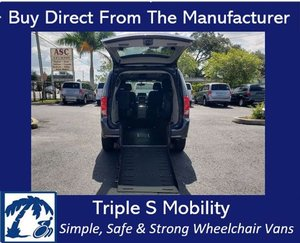 Used Wheelchair Van For Sale: 2017 Dodge Grand Caravan SXT Wheelchair Accessible Van For Sale with a Triple S Manual Rear Entry on it. VIN: 2C4RDGCG4HR616623