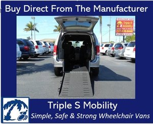 Used Wheelchair Van For Sale: 2019 Dodge Grand Caravan SXT Wheelchair Accessible Van For Sale with a Triple S Manual Rear Entry on it. VIN: 2C4RDGCG5KR521303