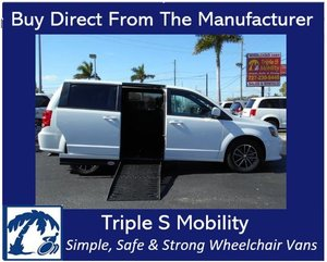 Used Wheelchair Van For Sale: 2019 Dodge Ram L Wheelchair Accessible Van For Sale with a Handicap Accessible Van on it. VIN: 2C4RDGEG7KR577904