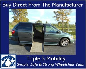 Used Wheelchair Van For Sale: 2003 Dodge Ram EL Wheelchair Accessible Van For Sale with a Handicap Accessible Van on it. VIN: 2D4GP44L63R138001
