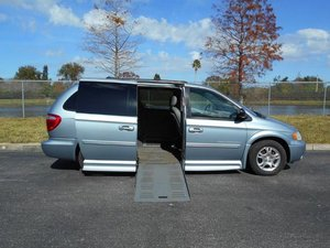 Used Wheelchair Van For Sale: 2004 Dodge Grand Caravan SXT Wheelchair Accessible Van For Sale with a Handicap Accessible Van on it. VIN: 2D4GP44L74R615844