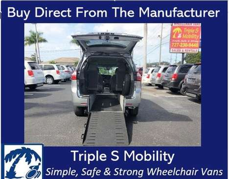 Used Wheelchair Van For Sale: 2017 Toyota Sienna LE Wheelchair Accessible Van For Sale with a Triple S Manual Rear Entry on it. VIN: 5TDYZ3DC1HS829764