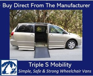 Used Wheelchair Van For Sale: 2005 Toyota Ram EL Wheelchair Accessible Van For Sale with a Handicap Accessible Van on it. VIN: 5TDZA23C65S239921