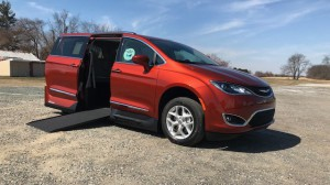 New Wheelchair Van For Sale: 2018 Chrysler Pacifica Touring Wheelchair Accessible Van For Sale with a VMI - Chrysler Pacifica Northstar Access360 by VMI on it. VIN: 2c4rc1bg5jr163457