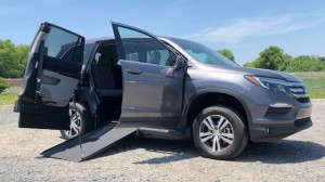 New Wheelchair Van For Sale: 2018 Honda Pilot EX-L Wheelchair Accessible Van For Sale with a VMI - Honda Pilot Northstar E360 on it. VIN: 5fnyf5h73jb001436