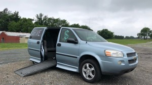Used Wheelchair Van For Sale: 2007 Chevrolet Uplander EX Wheelchair Accessible Van For Sale with a BraunAbility - Chevrolet Entervan on it. VIN: 1gbdv13w77d173336