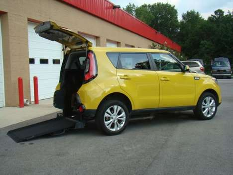 Used Wheelchair Van For Sale: 2016 Kia Soul + Wheelchair Accessible Van For Sale with a  on it. VIN: KNDJP3A58G7238532