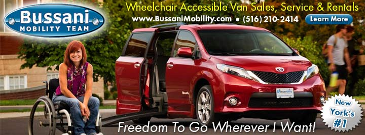 Wheelchair Vans For Sale at Bussani Mobility of New York