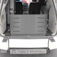 manul folding ramp rear entry wheelchair van by triple s mobility